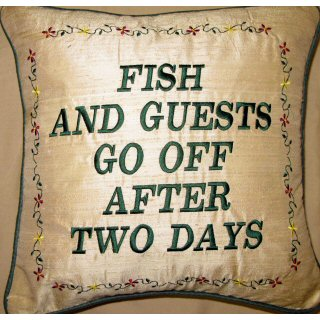 Fish And Guests Go Off After Two Days Embroidered