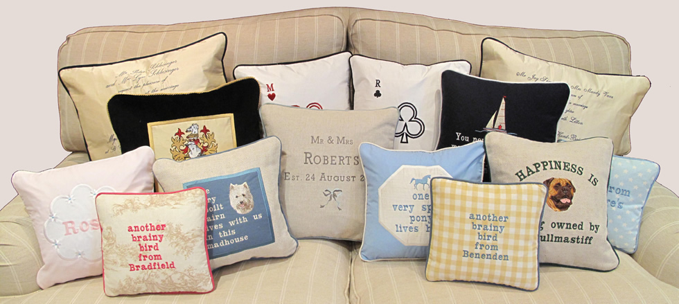 Personalised Cushions, Bespoke Cushions, Tailor Made ...